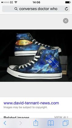 16ed169958c448 Customised Doctor Who Converse Pic  Canvas Warriors