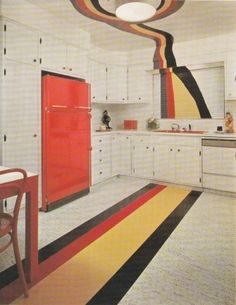 psychedelic 70's flare // my grandpa's house is literally painted like this. not even joking a little bit.