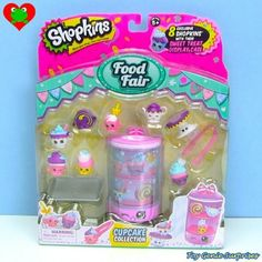 *NEW* Shopkins Food Fair Cupcake Collection Playset