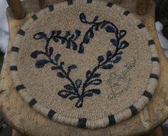 chair pad - looks like crockery - love the whipped edge