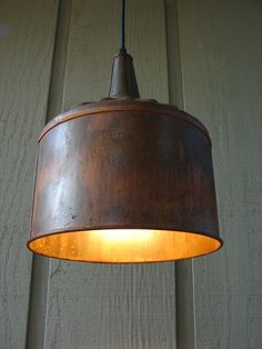 Farm Funnel Pendant Light by BenclifDesigns on Etsy, $96.00