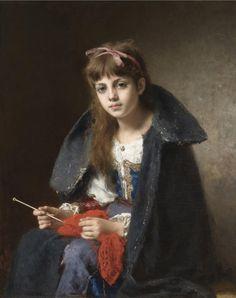 Харламов Алексей Алексеевич (1840 - 1925)-Грёзы-частная кол.