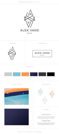 Alek Vans Brand Style Guide Brand Board Surf Brand Surf Logo Design Masculine Branding Modern Brand Mel Volkman St Augustine Graphic Design Web Design