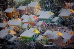 Snow Sunset, and of cause it is Bergen, Norway - the place to be!!!