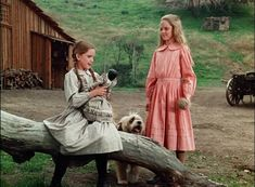 """Laura y Mary Ingalls en la serie """"la Familia Ingalls"""" , """"Los Pioneros"""" o """"La Casa de la Pradera"""", como fue conocido en distintos países de habla castellana."""