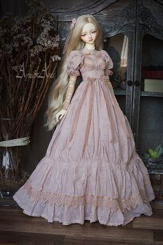 Orange Blossom OOAK handmade dress set for abjd bjd doll