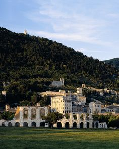 Stay at Park Hotel ai Cappuccini near Gubbio. This historic hilltop monastery is now a luxury spa hotel with wine cellar, fine dining and eclectic artworks. Park Hotel, Hotel Spa, Gran Tour, Palazzo, Luxury Spa Hotels, Eclectic Artwork, Italian Lakes, Fine Hotels, Places