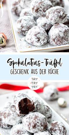 Spekulatius-Trüffel / Geschenke aus der Küche // Foodgeschenke // Weihnachtsgeschenk // Weihnachtsgeschenke // selbstgemachtes Geschenk // DIY Geschenke // backen, kochen, basteln // Food-Geschenk