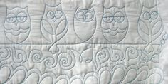Quilting Services | Mermac Design : Longarm Machine Quilting & Rental Various Owl free motion designs
