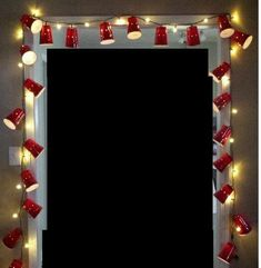Red Solo Cup lights for redneck party. 21 Party, Party Time, 21st Bday Ideas, 21st Birthday Decorations, Beer Party Decorations, Redneck Decorations, Redneck Christmas, Tacky Christmas, Christmas Lights