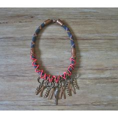 Neo tribal rope statement necklace in black and bronze by maslinda ($69) via Polyvore