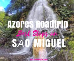 The Azores islands off the west coast of Portugal where you can do a roadtrip around Sāo Miguel island to see waterfalls and volcanic landscapes!