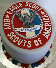 Fondant cake topper example.  (May want more detailed eagle insignia.)