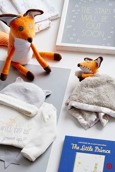 Antoine de Saint-Exupéry's The Little Prince is a story beloved by adults and children around the world. The Little Prince Collection, only at Target, can now inspire your baby's nursery. The wise fox appears as a plush toy and a cozy security blanket. Other must-have pieces include a soft baby blanket and quotable, framed wall art. Continue the theme by dressing your baby in a whimsical bodysuit and sweet cap with ears. And, no collection is complete without the anniversary edition of the b...