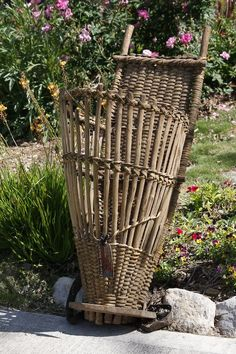 Faded Rose Antiques  French Grape Basket:
