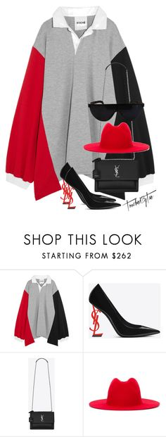 """Untitled #600"" by iamtaecarter ❤ liked on Polyvore featuring Koché, Yves Saint Laurent and Études"