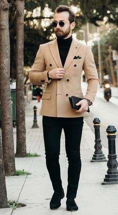 Brown Suits For Men, Black Suit Men, Black Man, Black And Brown, B Fashion, Summer Fashion Outfits, Swag Outfits, Work Outfits, Sweet Style