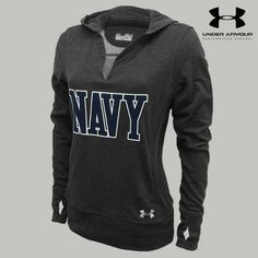 If this was plain it would be perfect! Under Armour Navy Women's Varsity Hood
