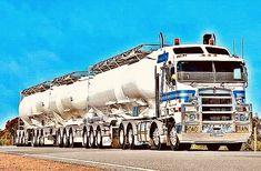Train Truck, Road Train, Truck Transport, Kenworth Trucks, Big Rig Trucks, Rigs, Cars And Motorcycles, Quad, Badass