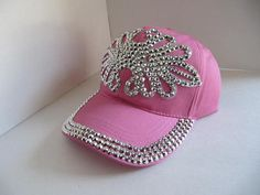 Cap Ball Cap Rhinestone Cap Bling Cap Womens by GoldenDreamFinds