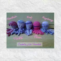 Deze inktvisjes zijn gemaakt door Joke Vorenhout - Reinold.
