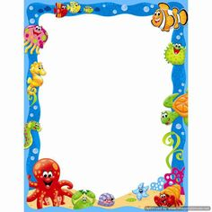 100 Best Scrapbook Beach Images Moldings Page Borders Under The Sea