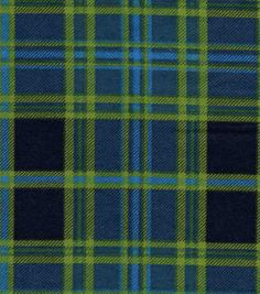 Snuggle Flannel Fabric - Navy Green Plaid