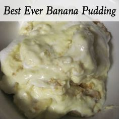 Banana Pudding - This is the best banana pudding I've ever eaten, and oh so easy to make!