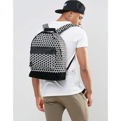 Shop Mi-Pac Honeycomb Backpack In Black at ASOS. Honeycomb, Asos, Backpacks, Men, Black, Fashion, Moda, Black People, La Mode