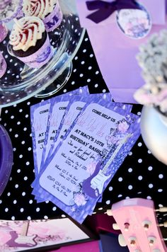 Glitz & Glam Guitar Rock Star Birthday Party by PrettyLilPartiesLV