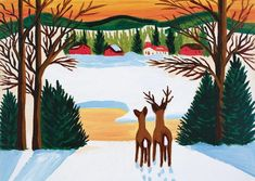 Life and Work of Maud Lewis, Canadian Folk Artist Nocturne, Maudie Lewis, Naive Art, Canadian Artists, Outsider Art, Landscape Art, Cool Artwork, Female Art, Art Images