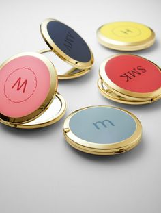 Personalized compact mirrors for your bridesmaids