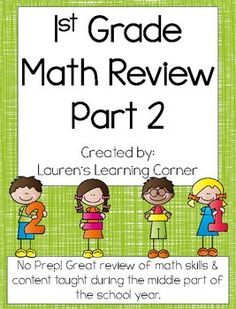 It is important to review as the year progresses and not just at the end! This packet contains review pages for first grade math. It covers skills in all four areas of first grade math according to the CCLS including: Operations and Algebraic Thinking, Numbers and Operations in Base Ten, Measurement and Data, and Geometry that have been taught in the middle part of the school year.