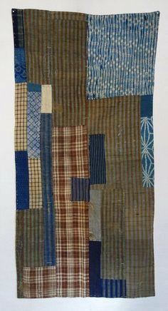 Japanese Antique Textile Boro- I love the combination of fabrics