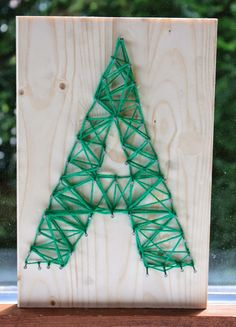 One nail at a time oops! - Fall Crafts For Kids Crafts For Teens To Make, Fall Crafts For Kids, Summer Crafts, Diy For Teens, Diy Crafts To Sell, Fun Craft, Craft Day, String Art, Fall Arts And Crafts