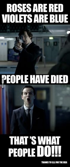 Just Sherlock and Moriarty poetry