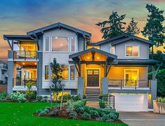 ''Wow'' Curb Appeal - 23585JD | Craftsman, Northwest, Luxury, Photo Gallery, Premium Collection, 2nd Floor Master Suite, Butler Walk-in Pantry, CAD Available, Den-Office-Library-Study, Media-Game-Home Theater, PDF, Sloping Lot | Architectural Designs