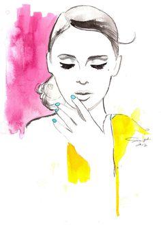 fashion illustration, by Jessica Durrant -