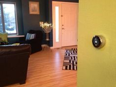 Nest Learning Thermostat in @netecopt's lovely living room