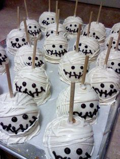 Gourmet Chocolate Halloween Ghost  Apples