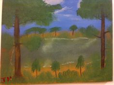 Grandpa's Lake (This was the first painting, when I decided to start painting)  oil, canvas