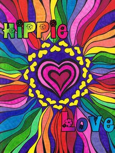 ☮ American Hippie Art ~ Peace Sign .. Groovy