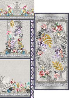 Textiles, Textile Prints, Art Prints, Textile Pattern Design, Baroque Pattern, Design Floral, Print Design, Motif Design, Blue Flower Wallpaper