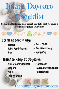 infant daycare checklist need help getting organized for daycare find out my list on - Baby Room Checklist