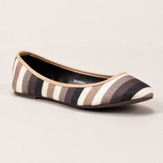 Striped Ballet Flat