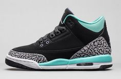 Air Jordan 3 Retro GS Bleached Turquoise Black/Bleached Turquoise-Wolf Grey-Iron Purple For Sale Women Air Jordan 3 - Nike official website Up to discount Air Jordan Retro, Air Jordan Iii, Air Jordan Shoes, Air Jordans Women, Girl Jordans, Shoes Jordans, Air Max Sneakers, Discount Sneakers, Retro Girls