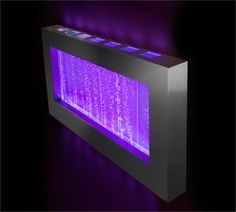 Landscape Bubble Wall Color Changing Hanging Water Fountain Wall Mounted Bubble Fountain, with LED lights and remote control for color change. Sensory Lights, Sensory Wall, Sensory Rooms, Sensory Boards, Bubble Wall, Indoor Fountain, Color Changing Lights, Lumiere Led, Water Walls