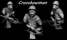 Preview: 19th Scale Crossbowman Bust for Frank Miniatures. | planetFigure | Miniatures