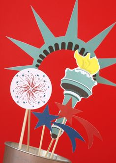 July 4, photo booth props, $9.95