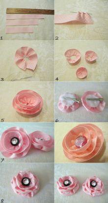 Make 2 in 1 Fabric Ribbon Flower Hair Clip